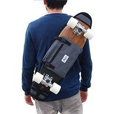 """Bandolera y riñonera porta skate de 26"""" y 27"""", podrás transportar fácilmente tu skate y llevar tus llaves, dinnero, smartphone..."""