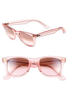 How cute are these pink wayfarer sunnies