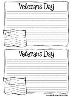 A Cupcake for the Teacher: veterans day Letters To Veterans, Veterans Day Activities, Holiday Activities, Remembering September 11th, Letter Writing Template, First Grade Teachers, Writing Prompts, Writing Papers, Writing Ideas