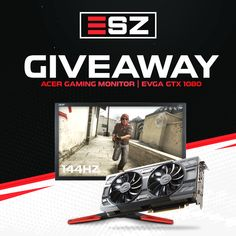 Win EVGA GeForce GTX 1080 Or Acer 144Hz Gaming Monitor