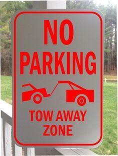 2-Pack BlazeVideo No Parking Signs Warning Sign Aluminum Metal Signage Hanging Sign 7 X 10