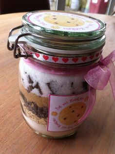 Koekjes in een pot – Making Really Good Food Meals In A Jar, Jar Gifts, No Bake Cookies, High Tea, Mason Jars, Good Food, Brunch, Easy Meals, Sweets