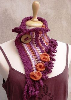 Custom Quilts by Eva: Extra Long Knit Fashion Scarf Crochet Wool, Crochet Scarves, Hand Crochet, Hand Knitting, Shades For Women, Spring Scarves, Custom Quilts, Neck Warmer, Scarf Styles