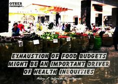 Food budgets & health inequities