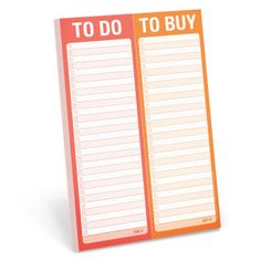 To Do / To Buy Perforated Pad by Knock Knock
