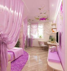 Teenager zimmer m dchen ideen hell lila m dchenzimmer - Lila madchenzimmer ...