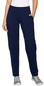 Denim & Co. As Is Active Regular French Terry Contour Waistband Pants