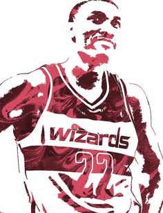 Otto Porter WASHINGTON WIZARDS PIXEL ART 2 Art Print by Joe Hamilton. All prints are professionally printed, packaged, and shipped within 3 - 4 business days. Basketball Players, Nba Players, Joe Hamilton, Nba Pictures, Washington Wizards, Thing 1, Sports Art, All Art, Pixel Art