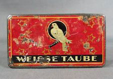 1906 GERMAN EBNER&KRAMER E&K WHITE DOVE CIGARETTE TOBACCO LITHO TIN BOX CASE CAN