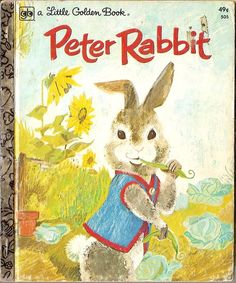 Vintage Peter Rabbit Beatrix Potter Little Golden Book by vintagebooklover
