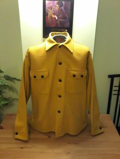 Vintage Buffalo Yellow Wool Unisex Jacket by VintageMixWest