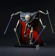 General Grievous!! 1/10th scale | A Kotobukiya Japanese import! The incredible Star Wars ARTFX+ lineup has already featured some of the most iconic heroes and villains from the Star Wars films, and now it returns to the final prequel to present the Supreme Commander of the Separatist droid army, General Grievous! A powerful alien cyborg with multiple arms and a mastery of the lightsaber, Grievous is one of the greatest threats the Jedi and the Republic have ever faced.