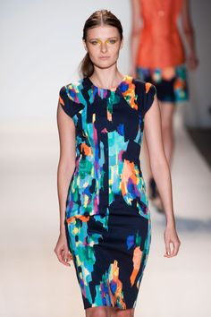Lela Rose S/S '13: Love these colors. Match a blazer or cardigan. Heels or boots. Love it