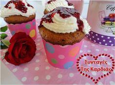 ΣΥΝΤΑΓΕΣ ΤΗΣ ΚΑΡΔΙΑΣ: Cupcakes framboises