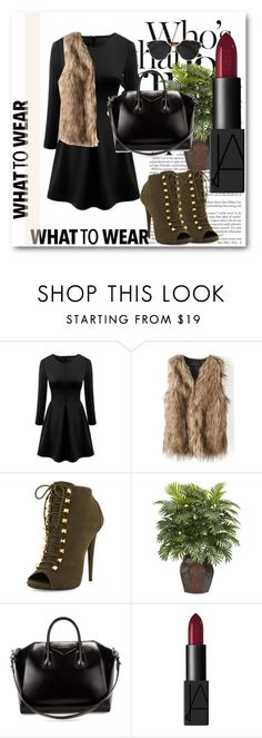 """""""BHALO !!"""" by dianagrigoryan ❤ liked on Polyvore featuring Giuseppe Zanotti, Nearly Natural, Givenchy, NARS Cosmetics, Christian Dior and beautifulhalo"""