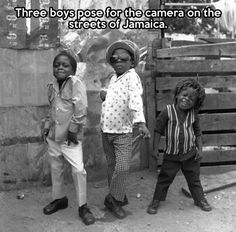 You got love the little boy on the right.