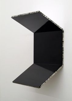 Steven Parrino, Bent Twice, 1991, enamel on honeycomb aluminum, 85.1 × 59.7 × 39.4 cm