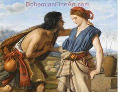 William Dyce, The Meeting of Jacob and Rachel Fine Art Reproduction Oil Painting