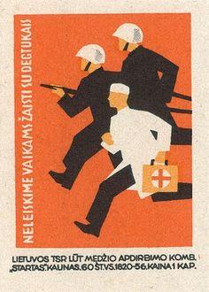 Vintage Russian Matchbox labels