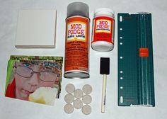 Modge podge coasters  www.mysweetgreens.com