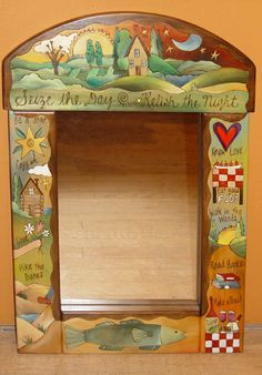 """Seize the Day Mirror"" - Handmade Wood Furniture by Sticks - Peyton? Like the top & ""give"" example"