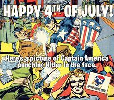 Captain America punching Hitler #Merica #Freedom