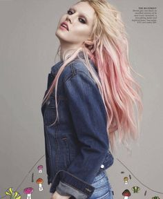 pink/blonde ombre. Yearning for this.