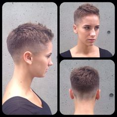 Feeling a little dumb and sheepish after sitting in the chair and allowing the long haired barberette to do this to her (formerly) magnificent mane. Short Hair Undercut, Short Pixie Haircuts, Pixie Hairstyles, Pretty Hairstyles, Short Hair Cuts, Braided Hairstyles, Wedding Hairstyles, Hair Inspo, Hair Inspiration