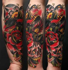 New Lion Tattoo Back Neo Traditional Tattoo Sleeve .