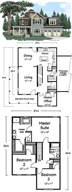"""This 3 Bedroom Two-Story """"Juliette"""" plan is looking for the perfect Romeo."""