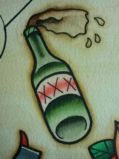 bottle tattoo traditional - Google Search