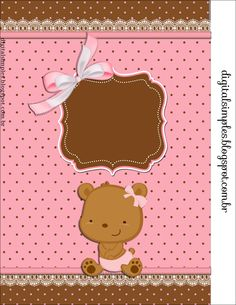 Osita Bebé: Etiquetas para Candy Bar para Imprimir Gratis.