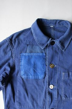 French vintage patched work jacket/France by SASAKIYOHINTEN