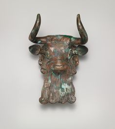 Sumerian Bull's head ornament for a lyre | | Early Dynastic III | The Metropolitan Museum of Art