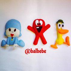 Pocoyo ve arkadaşları Fred ve Pato. Yakında hepsiyle keçeden çerçeve ve kapısüsü. #pocoyo #keçe #keçekapısüsü #keçetasarım