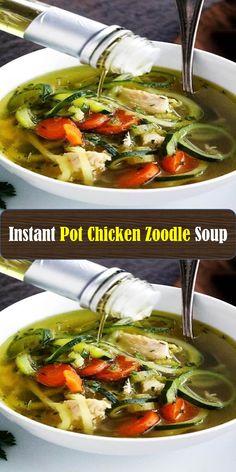 - Sweet Home Chicken Zoodle Soup, Fajitas, Ramen, Instant Pot, Ethnic Recipes, Sweet, Food, Meal, Essen