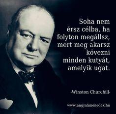Winston Churchill idézete céljaink eléréséről. A kép forrása: Angyali Menedék # Facebook