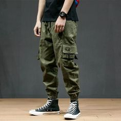Product Army green beam foot tooling casual pants loose harem pants Brand Name Everboo SKU Gender Men Style Casual Type Pants Material Cotton Decoration Solid color Please Note:All dimensions are measured manually with a de Cargo Pants Outfit Men, Harem Pants Men, Casual Pants, Men Casual, Trousers, Style Outfits, Cool Outfits, Casual Outfits, Fashion Outfits