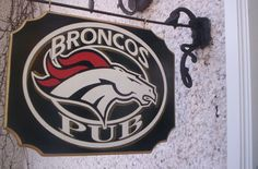 The Denver #Broncos Wooden Pub club Or House Sign from $34.92