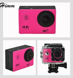 Action camera / Ultra HD / WiFi go Helmet Cam pro underwater waterproof Sport camera Sports Camera, Fujifilm Instax Mini, Underwater, Cameras, Wifi, Helmet, Action, Hockey Helmet, Group Action
