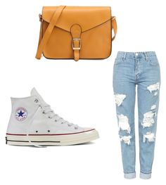 """""""My First Polyvore Outfit"""" by vapetrova ❤ liked on Polyvore featuring Topshop and Converse"""