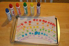 The Iowa Farmer's Wife: Tot Preschool: Rainbows Rainbow Crafts Preschool, Rainbow Activities, Preschool Themes, Preschool Activities, Tot School, School Fun, School Play, School Stuff, Noahs Ark Craft