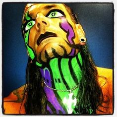 Epic Wwe Hardys, Jeff Hardy Willow, Jeff Hardy Face Paint, Wwe Jeff Hardy, The Hardy Boyz, Wwe Stuff, Brothers In Arms, Cool Face, Creatures Of The Night