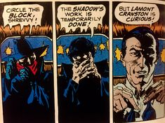 THE SHADOW, transforming into Lamont Cranston, by Michael W. Kaluta.