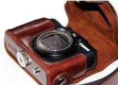 "MegaGear ""Ever Ready"" Protective Leather Camera Case, Bag for Canon PowerShot G15 (Dark Brown) by MegaGear. $34.99. Protect your camera and other accessories from dust, scratches and damages. Tailored for Canon G15, High quality, compact, lightweight and extremely durable material. Protective, soft internal fabric to protect your camera from bumping and shocking. Internal soft layer protects LCD screen from scratches and bumps. ""Ever Ready"" no need to take out..."