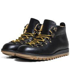 Fracap M120 Ripple Sole Scarponcini Boot (Black)