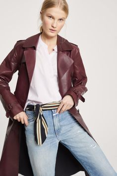 Asymmetric Blouse with Stand-Up Collar Loose Fit Jeans, Blouses For Women, Leather Jacket, Woman, Unique, Jackets, Shopping, Fashion, Studded Leather Jacket