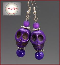 Ohrringe Halloween Accessoires Skulls Totenköpfe