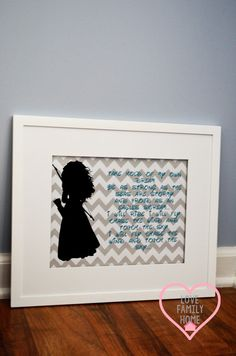Brave Merida Silhouette 8x10 Wall by LoveFamilyHome on Etsy