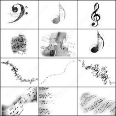 free photoshop brushes | Photoshop Music brushes | Download Free Vector